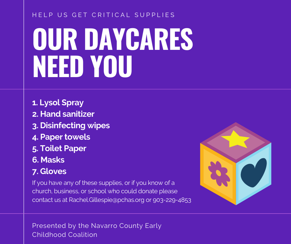 Our DAYCARES Need You